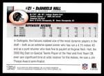 2004 Topps #321  DeAngelo Hall  Back Thumbnail