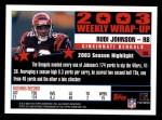 2004 Topps #305   -  Rudi Johnson Weekly Wrap-Up Back Thumbnail