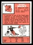 1966 Topps #71  Bobby Hunt  Back Thumbnail
