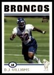 2004 Topps #336  D.J. Williams  Front Thumbnail