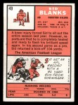 1966 Topps #49  Sid Blanks  Back Thumbnail