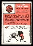 1966 Topps #28  Tom Sestak  Back Thumbnail
