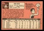 1969 Topps #177  Ron Reed  Back Thumbnail