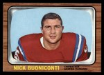 1966 Topps #3  Nick Buoniconti  Front Thumbnail