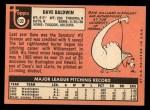 1969 Topps #132  Dave Baldwin  Back Thumbnail