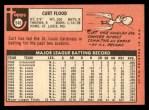1969 Topps #540   -  Curt Flood    Back Thumbnail