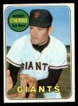 1969 Topps #604  Bobby Etheridge  Front Thumbnail