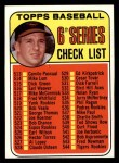 1969 Topps #504   -  Brooks Robinson Checklist 6 Front Thumbnail