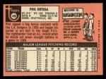 1969 Topps #406  Phil Ortega  Back Thumbnail