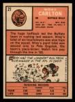 1966 Topps #21  Wray Carlton  Back Thumbnail