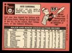 1969 Topps #325  Jose Cardenal  Back Thumbnail