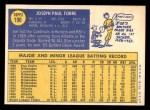 1970 Topps #190  Joe Torre  Back Thumbnail