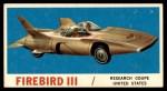 1961 Topps Sports Cars #6   Firebird III Front Thumbnail