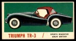 1961 Topps Sports Cars #41   Triumph TR-3 Front Thumbnail