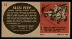 1961 Topps Sports Cars #44   Facel Vega Back Thumbnail