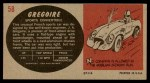 1961 Topps Sports Cars #58   Gregoire Back Thumbnail