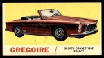 1961 Topps Sports Cars #58   Gregoire Front Thumbnail