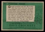 1956 Topps Davy Crockett #79 GRN  Fighting Finish  Back Thumbnail