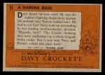 1956 Topps Davy Crockett #11 ORG  Daring Raid  Back Thumbnail