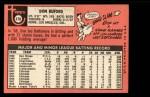 1969 Topps #478  Don Buford  Back Thumbnail