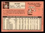 1969 Topps #555  Jim Hart  Back Thumbnail