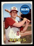 1969 Topps #70  Tommy Helms  Front Thumbnail