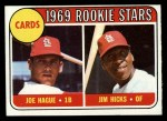 1969 Topps #559   -  Joe Hague / Jim Hicks Cardinals Rookies Front Thumbnail