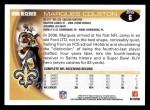 2010 Topps #6  Marques Colston  Back Thumbnail
