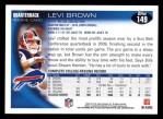 2010 Topps #149  Levi Brown  Back Thumbnail