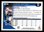 2010 Topps #62  Jason Witten  Back Thumbnail