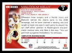 2010 Topps #3  Malcolm Kelly  Back Thumbnail