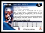 2010 Topps #58  Taylor Price  Back Thumbnail