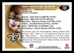 2010 Topps #137   -  Drew Brees / Marques Colston Saints Team Back Thumbnail