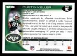 2010 Topps #82  Dustin Keller  Back Thumbnail