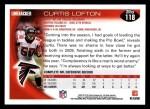 2010 Topps #118  Curtis Lofton  Back Thumbnail