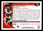 2010 Topps #118  Curtis Lofton  Back Thumbnail