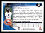 2010 Topps #46  Major Wright  Back Thumbnail