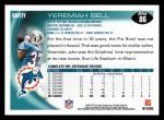 2010 Topps #86  Yeremiah Bell  Back Thumbnail
