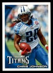 2010 Topps #40  Chris Johnson  Front Thumbnail
