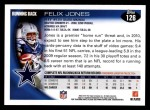 2010 Topps #126  Felix Jones  Back Thumbnail