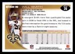 2010 Topps #26  Will Smith  Back Thumbnail