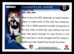 2010 Topps #77  DeMarcus Ware  Back Thumbnail
