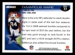 2010 Topps #77  DeMarcus Ware  Back Thumbnail