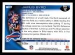 2010 Topps #12  Jairus Byrd  Back Thumbnail