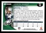 2010 Topps #55  Jason Avant  Back Thumbnail