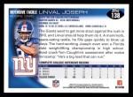 2010 Topps #138  Linval Joseph  Back Thumbnail