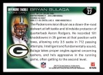 2010 Topps #27  Bryan Bulaga  Back Thumbnail