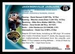 2010 Topps #119   -  Maurice Jones-Drew Jaguars Team Back Thumbnail