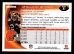 2010 Topps #71  Sheldon Brown  Back Thumbnail