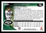 2010 Topps #139  John Conner  Back Thumbnail